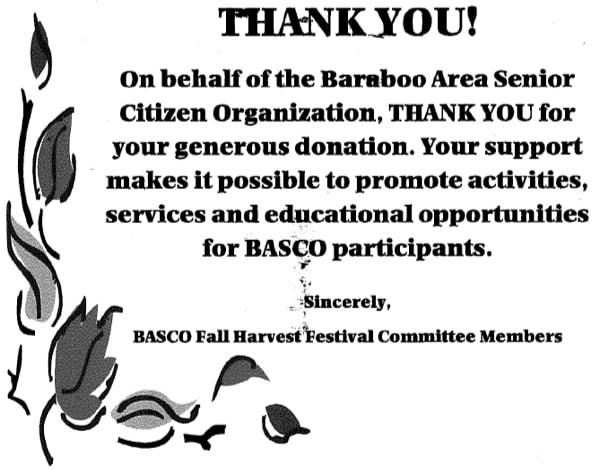 BASCO thank you letter