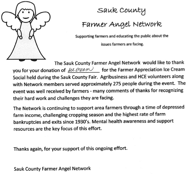 Sauk County Thank You Note