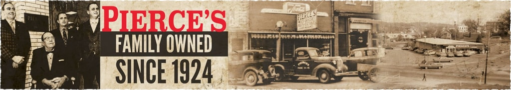 Pierce's grocery store banner
